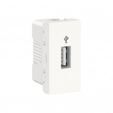 USB-коннектор Unica New Schneider Electric 1 модуль белый (NU342918)