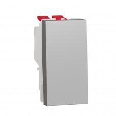 Выключатель 1-клавишный перекресный Схема 7 10А, 1 модуль алюминий NU310530