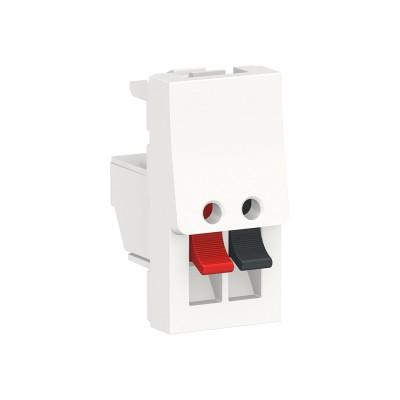 Аудиорозетка Schneider Electric Unica New 1 модуль белая (NU348718)