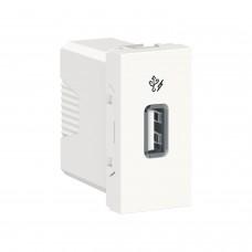 Розетка USB Unica New 1 модуль 1A белая (NU342818)