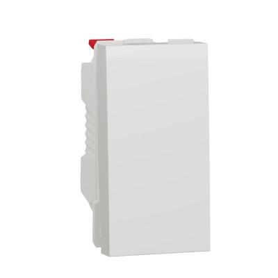 Выключатель 1-клавишный схема 1, 10А 1 модуль белый (NU310118)