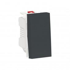 Выключатель 1-клавишный кнопочный схема 1 10А, 1 модульный антрацит