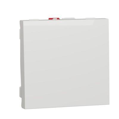 Выключатель 1-кл. сх.1, 10А 2 модуля белый (NU320118)