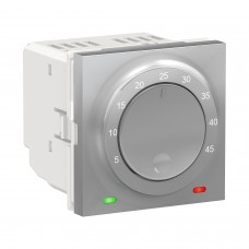 Терморегулятор для теплого пола Schneider Electric 10А алюминий (NU350330)