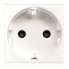 Розетка с заземлением и защитными шторками ABB 16А, 250В N2288 BL 2мод. белый Zenit (2CLA228800N1101)