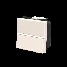 Выключатель проходной одноклавишный белый 2 модуля сх.6 Zenit N2202 BL ABB (2CLA220200N1101)