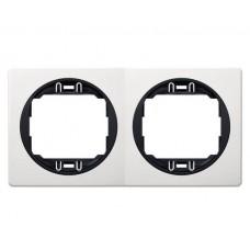 """Рамка двойная горизонтальная Aling Conel EON. Цвет """"Белый"""" с черной вставкой (E6701.0E)"""