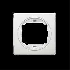 """Рамка одинарная Aling Conel EON. Цвет """"Белый"""" с белой вставкой (E6801.00)"""