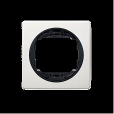 """Рамка одинарная Aling Conel EON. Цвет """"Белый"""" с черной вставкой (E6801.0E)"""