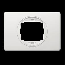 """Рамка одинарная широкая Aling Conel EON. Цвет """"Белый"""" с белой вставкой (E6803.00)"""