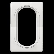 """Рамка под двойную розетку E604 Aling Conel EON. Цвет """"Белый"""" с белой вставкой (E6805.00)"""