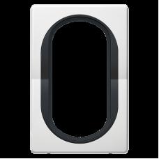 """Рамка под двойную розетку E604 Aling Conel EON. Цвет """"Белый"""" с черной вставкой (E6805.0E)"""