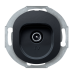 "TV-розетка концевая Aling Conel серии EON. Цвет ""Черный"" (E612I.E1)"