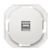 "USB-розетка Aling Conel серии EON. Цвет ""Белый"" (E6162.0)"