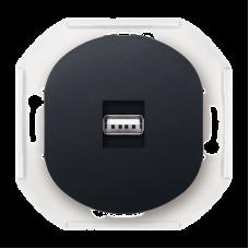 """USB-розетка информационная Aling Conel EON. Цвет """"Черный"""" (E6162.E1)"""
