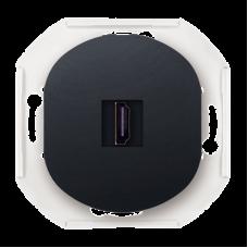 "HDMI-розетка Aling Conel EON. Цвет ""Черный"" (E6163.E1)"