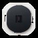 "HDMI-розетка Aling Conel серии EON. Цвет ""Черный"" (E6163.E1)"