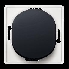"""Выключатель одноклавишный Aling Conel EON. Цвет """"Черный"""" (E605.E1)"""