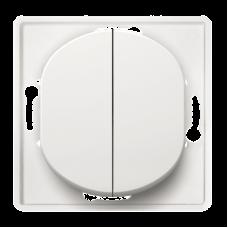 """Выключатель двухклавишный Aling Conel EON. Цвет """"Белый"""" (E606.0)"""