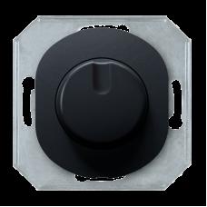 """Светорегулятор с однополюсным выключателем Aling Conel серии EON. Цвет """"Черный"""" (E6173.E1)"""