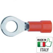 BM00107 Кабельный наконечник кольцевой с изоляцией, сечение 0.25-1.5 мм, М3
