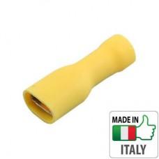 BM00392 Кабельный наконечник `мама` полностью изолированный, сечение 4-6 мм, 6,3*0,8