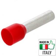 Кабельный наконечник трубчатый с изоляцией, сечение провода 10 мм