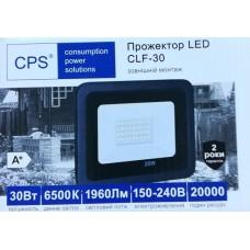 Светодиодный прожектор с драйвером CLF-30 холодный свет (Размер: 155×110×25 мм)