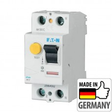 Устройство защитного отключения (УЗО) Eaton PF7, 40А, 2 полюса, тип A (PF7-40/2/003-A)