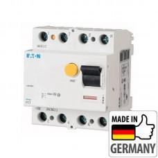 Устройство защитного отключения (УЗО) Eaton PF7, 100А, 4 полюса, тип A (PF7-100/4/003-A)