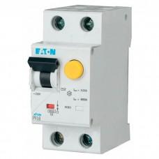 Дифференциальный автомат Eaton PFL6-25/1N/C/003, 25А, 30мА, 1 полюс + нейтраль, кривая C