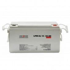 Аккумулятор гелевый LogicPower LPM-GL 12-65 AH, 12 вольт