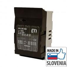 Блок-рубильник горизонтальный 3-полюсный ETI HVL EK00 для ножевых предохранителей, 160А