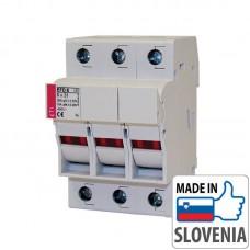 Разъединитель EFD10 3p для цилиндрических предохранителей CH10x38