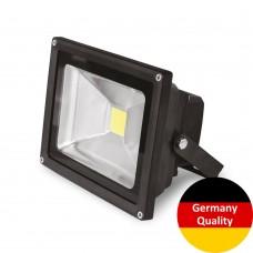 LED-прожектор Euroelectric COB 30Вт, 6500K (черный)