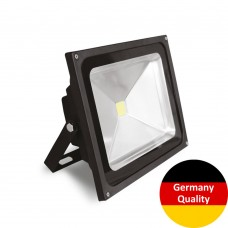 LED-прожектор Euroelectric COB 50Вт, 6500K (черный)