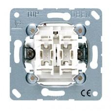 Механизм двухклавишного выключателя Jung ECO profi (EP405U)