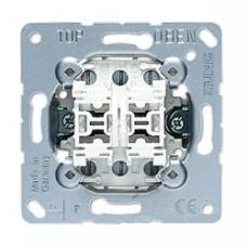 Механизм двухклавишного проходного выключателя Jung ECO profi (EP409U)