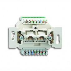 Механизм двойной компьютерной розетки Jung ECO profi RJ46 Cat6 (не экранированная) (EPUAE8-8UPOK6US)