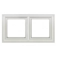 """Рамка двухместная Jung ECO profi Design. Цвет """"Белый"""" (EPD482WW)"""