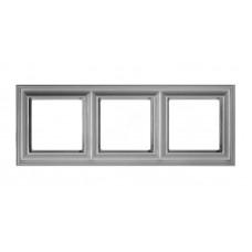 """Рамка трехместная Jung ECO profi Design. Цвет """"Алюминий"""" (EPD483AL)"""