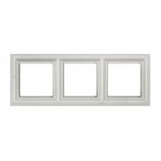 """Рамка трехместная Jung ECO profi Design. Цвет """"Белый"""" (EPD483WW)"""