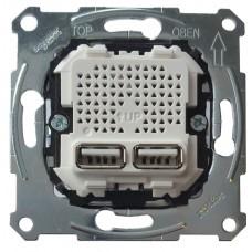 Механизм USB розетки Merten 2,1 A (MTN4366-0100)