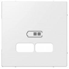 "Накладка Merten для USB-розетки с двумя разъёмами, цвет ""Полярный Белый"""