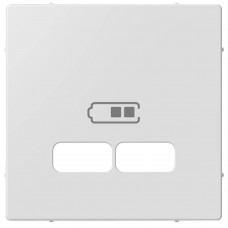 Накладка для USB-розетки (2 разъёма), цвет Активный Белый (MTN4367-0325)
