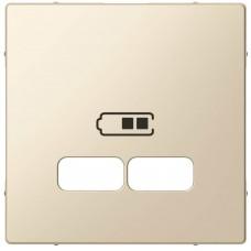 "Накладка Merten для USB-розеток с двумя разъёмами, цвет ""Бежевый"""