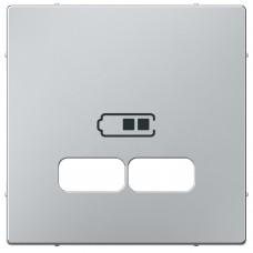 Накладка Merten для USB-розетки на 2 входа, цвет Алюминий (MTN4367-0460)