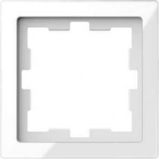 Рамка D-Life 1-постовая белый кристал (MTN4010-6520)