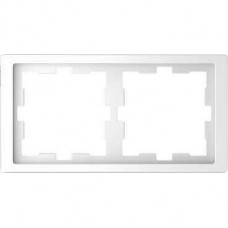 Рамка D-Life 2-постовая белый лотос (MTN4020-6535)
