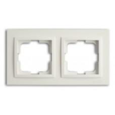 Рамка двойная серии Despina (Mono Electric) Белая